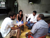 Meeting with one of the farmers