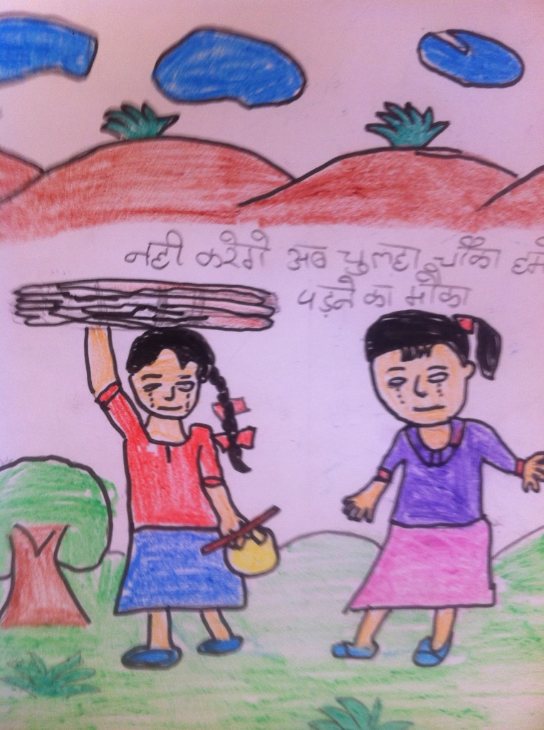 Child labor as drawn by one of the girls