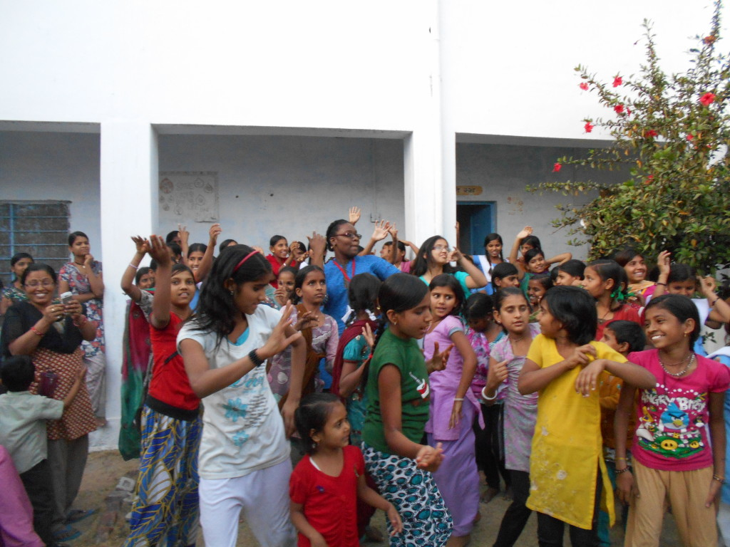 An after school dance party in Rajasthan
