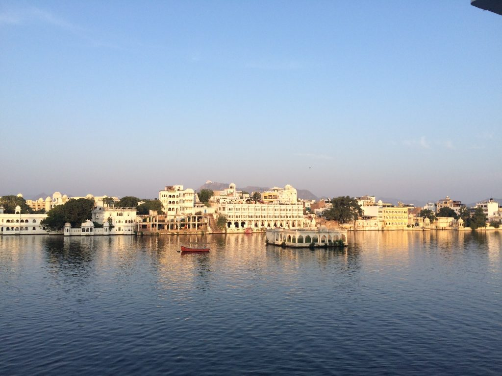 A lake view in Udaipur