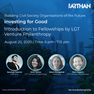 "Varthana CEO and Alumni Fellows discuss the added value of the LGT Impact Fellowship at Arthan's ""Investing for Good"" conference"
